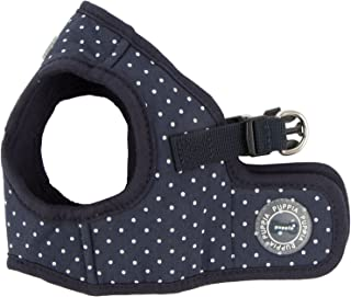 Puppia PARA-HB1529-NY-M Navy Dotty Harness II B Pet-Vest-Harnesses, MEDIUM