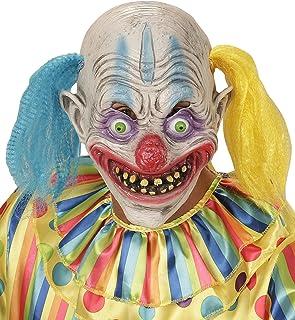 WIDMANN 00403 ? Máscara Psycho Payaso con pelo bicolor, talla única