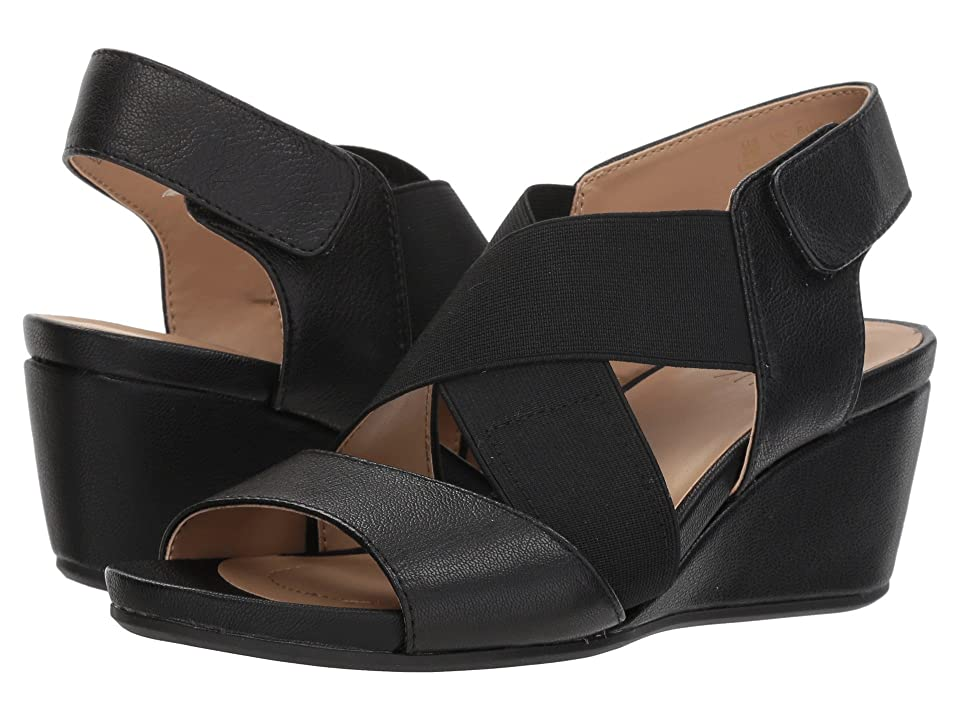 Naturalizer Cleo (Black Leather/Gore) Women