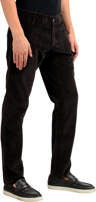 Dolce & Gabbana Men's Dark Brown Corduroy Casual Pants US 30 IT 46