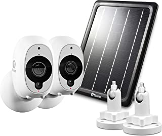 Swann Smart Security Battery Camera, Solar Panel and Mounts, White (SRWHD-INT2SOL1ST2-US)
