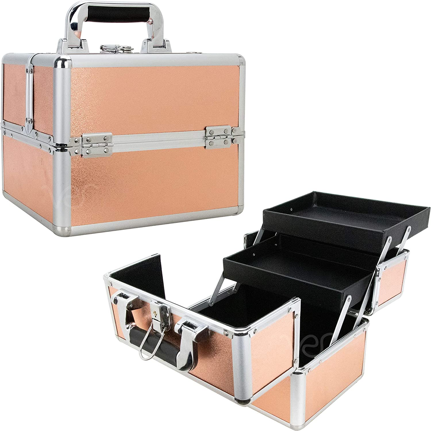 Ver Beauty 2-Tiers Extendable Trays Soldering Makeup - Train NEW before selling R VK006 Case