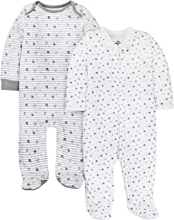 Lamaze Unisex-Baby LA1301257I18 Organic 2 Pack Sleep N' Plays Footie