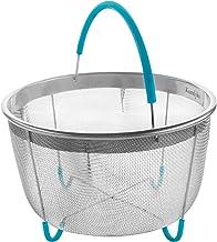 Komfyko Steamer Basket 6 Quart [3qt 8qt Avail]- Compatible with Instant Pot Accessories..