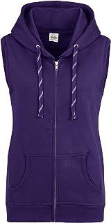 AWDis Just Hoods Womens/Ladies Girlie Sleeveless Full Zip Hoodie