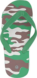 Yellow Bee Camouflage Slippers for Boys, Green