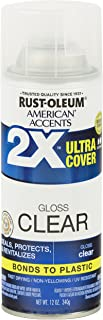 Rust-Oleum 327864 American Accents Spray Paint, 12 Oz, Gloss Clear