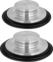 2 Pack Kitchen Sink Stopper Stainless Steel Garbage Disposal Plug Fits Standard Kitchen Drain size of 3 ½ Inch (3.5 Inch)