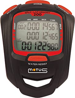 Motus Millennium MT50 Unisex Adult Sports Stopwatch, Black/Red, One Size