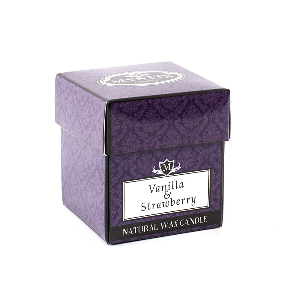 香ばしいトランスミッション警報Mystix London   Vanilla & Strawberry Scented Candle x 5