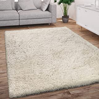 Aujelly Soft Area Rug Schlafzimmer Shaggy Teppich Zottige Teppiche Flauschige Bunte Batik-Teppiche Carpet Neu Braun 120 x 160 cm