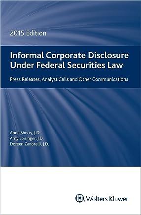 Informal Corporate Disclosure: 2015 Edition