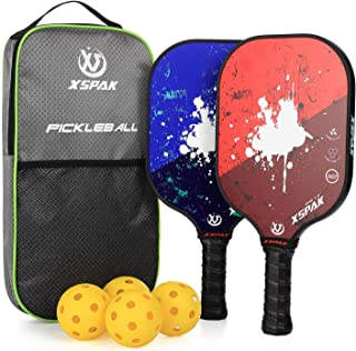 XS XSPAK Graphite Pickleball Paddle, Lightweight Graphite Honeycomb Composite Core Paddles Single Wrap or Sets of 2, USAPA...