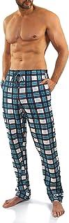 Sesto Senso Mens Pjs Bottoms Long Checked Lounge Pants Cotton 1 or 2 Pack Pyjamas Trousers Sleepwear Nightwear