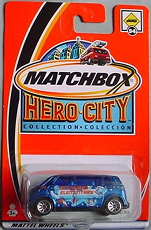 Matchbox Hero City Volkswagen VW Microbus Bus  54 blueE