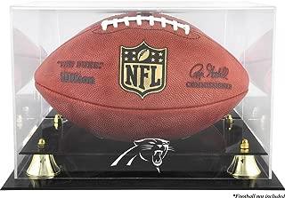Mounted Memories Carolina Panthers Team Logo Football Display Case