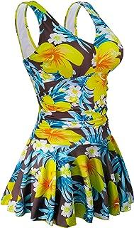 AONTUS Women's Plus Size Swimsuits Tummy Control One Piece Swim Dresses Bathing Suit