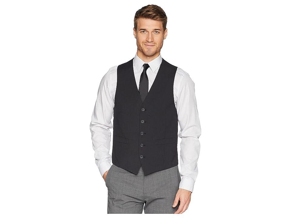 Kenneth Cole Reaction Techni-Cole Stretch Suit Separate Vest (Grey/Black Check) Men