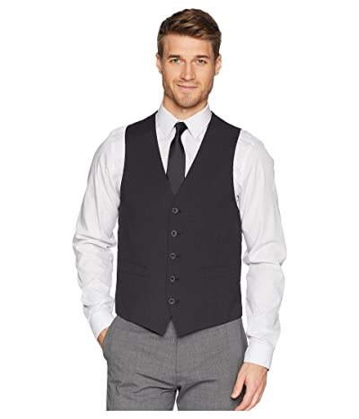 Kenneth Cole Reaction Techni-Cole Stretch Suit Separate Vest (Grey/Black Check) Men