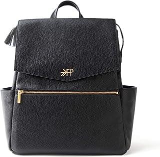 تازه چیده شده - کوله پشتی کیف پوشک کلاسیک قابل تبدیل - فضای ذخیره سازی داخلی بزرگ 10 جیب قابل پاک شدن چرم وگان