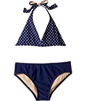Toobydoo - Navy and White Dot Bikini (Infant/Toddler/Little Kids/Big Kids)
