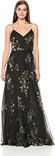 Jenny Yoo Women's Inesse Floral Chiffon Gown