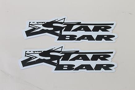 STARBAR(スターバー) スターバー デカール 3cmX12cm/2枚セット WHITE
