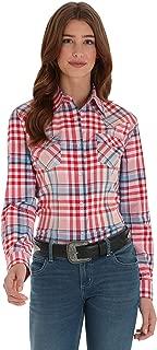 Women's Retro Long Sleeve Western Fashion Snap Shirt
