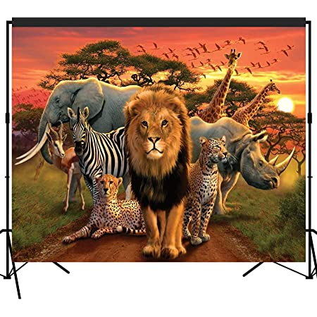 6x6FT Vinyl Photography Backdrop,Lion,Watercolor Head of Panthera Background for Graduation Prom Dance Decor Photo Booth Studio Prop Banner