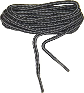 (2 Pair Pack Rugged Heavy Duty Round 4mm Thick Boot Laces Shoelaces shoestrings