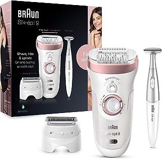Braun Silk-épil 9 9-890, Depilatore Donna, Con Bikini Styler, Testina Radente E Rifinitore, Cappuccio Massaggiante Per Un'...