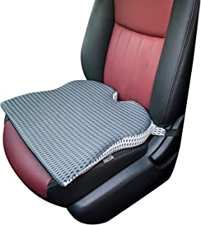 Dreamer Car Wedge Seat Cushion with Strap -Memory Foam Coccyx Wedge Pad -Orthopedic Support and Pain Relief for Lower Back, Tailbone, Coccyx and Hips-Gray
