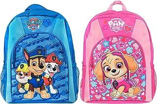 2 mochilas escolares para niños con hebilla en el pecho de La patrulla canina