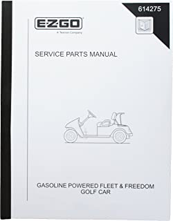 EZGO 614275 2010 Service Parts Manual for Gas Fleet and Freedom Golf Cars
