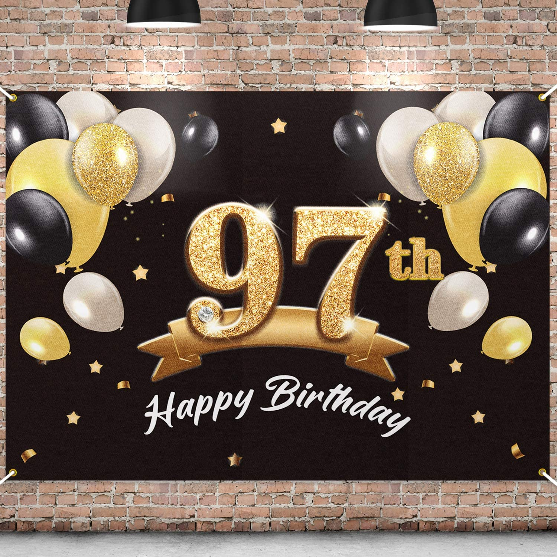 PAKBOOM Tampa Ranking TOP1 Mall Happy 97th Birthday Banner Party Backdrop 97 -