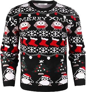comprar comparacion iClosam SuéTer De Hombre Y Mujer Unisex Navidad Cuello Redondo Esencial Navideño Pullover De Punto Jersey Sudaderas Sweate...