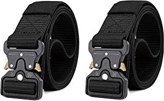 Men's Tactical Belt, Nylon Web Rigger Work Carry Tool Belts for Men with Heavy-Duty Quick-Release Buckle