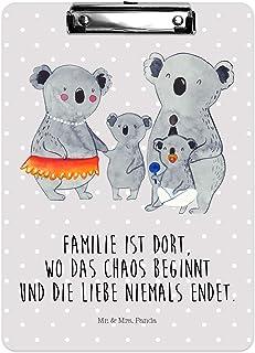Hefter Farbe Rot Pastell /& Mrs Mr Panda Papier Klemmbrett Fuchs Mama /& Kind