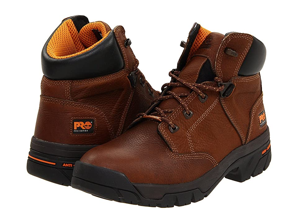 Timberland Helix 6 Waterproof Soft Toe (Brown) Men's Work Boots
