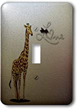 3dRose LLC lsp_59920_1 Sweet Giraffe with The Word Love Cute Animals Children's Décor Single Toggle Switch