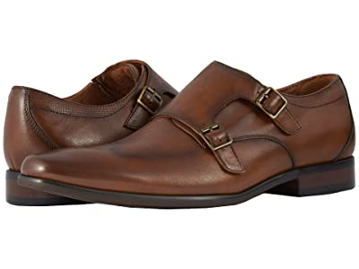 Florsheim Postino Double Monk Strap (Cognac Smooth/Perf) Men