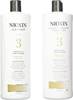 Nioxin System 3 Cleanser Scalp Therapy Conditioner Duo For Unisex 33.8 oz Cleanser & Conditioner