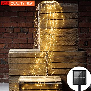 Solar String Lights Outdoor 10 Strands 200 LEDs Waterproof Twinkle Starry LightsWaterfall Vine Branch Lights for Bedroom G...