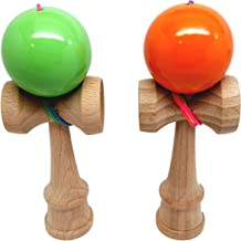 KENDAMA TOY CO. - The Best Pocket Kendama For All Kinds Of Fun (not full size) - 2-Pack - Awesome Colors: Green and Orange Kendama Set - A Tool To Create Better Hand And Eye Coordination