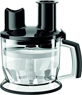 Braun MQ70BK Multiquick Hand Blender 6-Cup Food Processor Attachment, Black