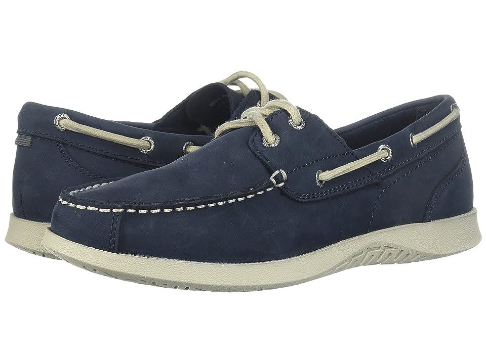 Nunn Bush Bayside Lites Two-Eye Moc Toe Boat Shoe (Navy) Men