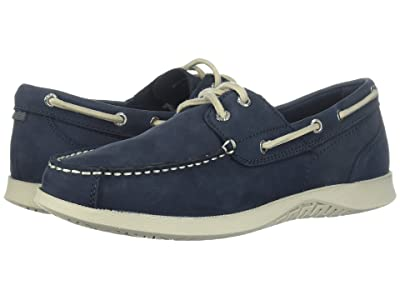 Nunn Bush Bayside Lites Two-Eye Moc Toe Boat Shoe (Navy) Men