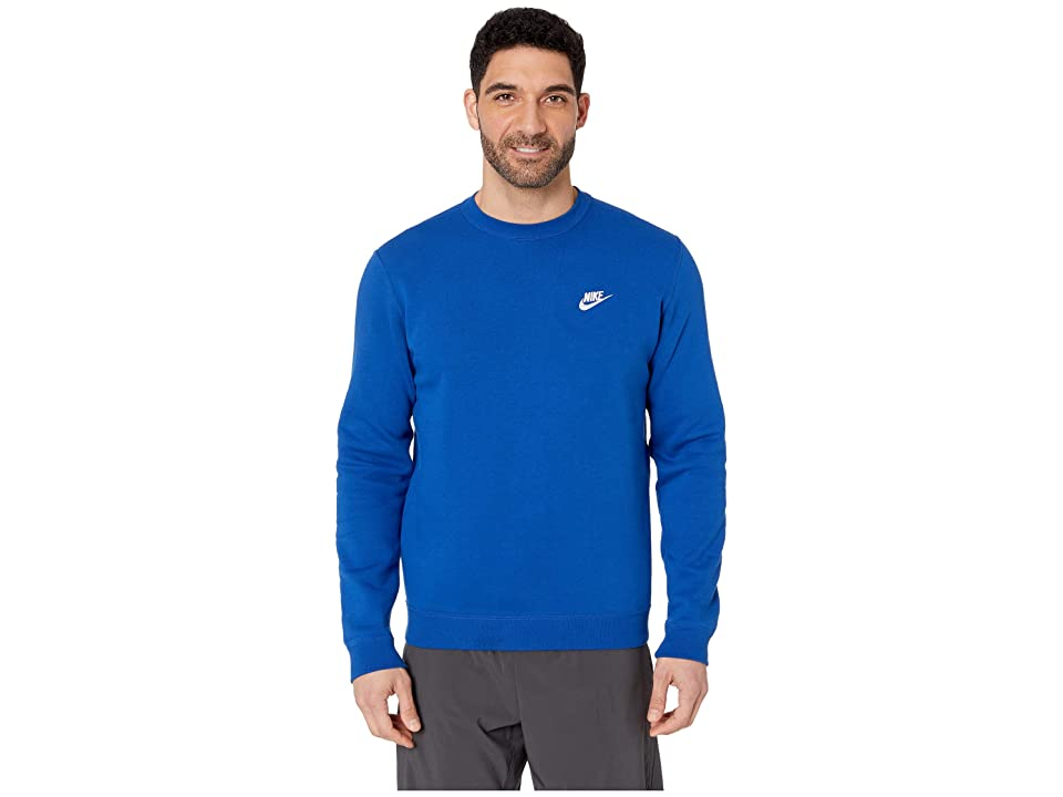 Nike Club Fleece Pullover Crew (Indigo Force/White) Men