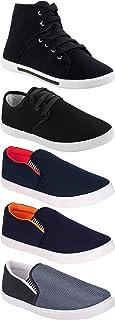 WORLD WEAR FOOTWEAR Men's Multicolor (303-349-486-1094-1002) Casual Sneaker Loafer Shoes