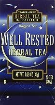Trader Joe's Herbal Tea Well Rested No Caffeine 20 Bags